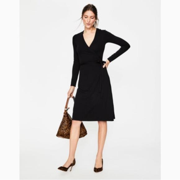 d9617ff92a7 Boden Dresses & Skirts - Boden Jersey Wrap Dress Black Size 4 Regular